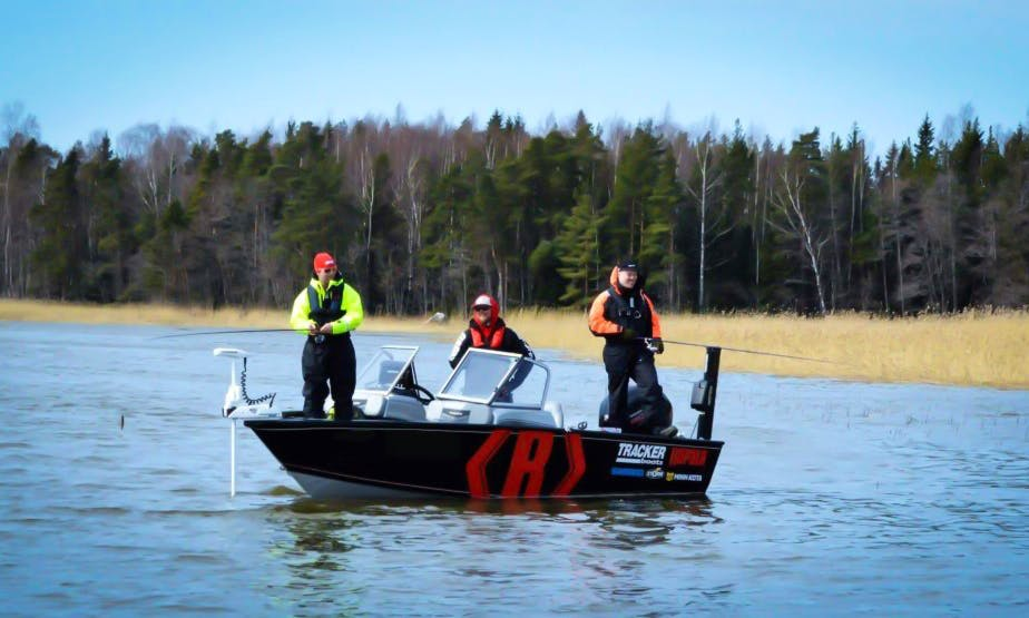 Fishing Guide Service with Tracker Pro Guide Boat in Porvoo, Finland