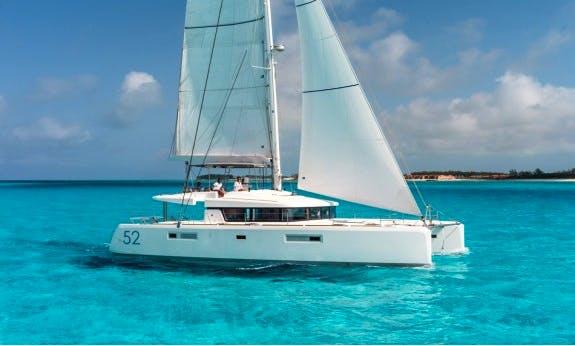 Sailing Vacation In Baie Sainte Anne, Seychelles On Lagoon 52 F Sailing Catamaran