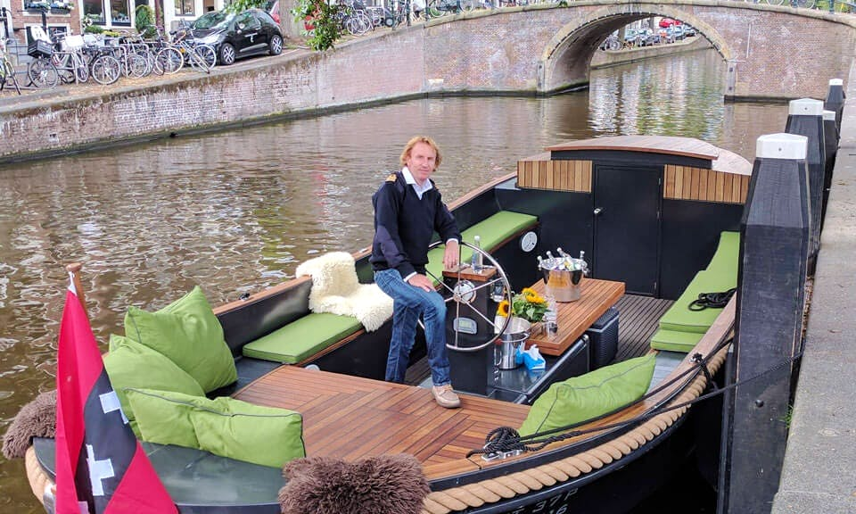 25 People Canal Boat for Rent with or without Guide n Amsterdam