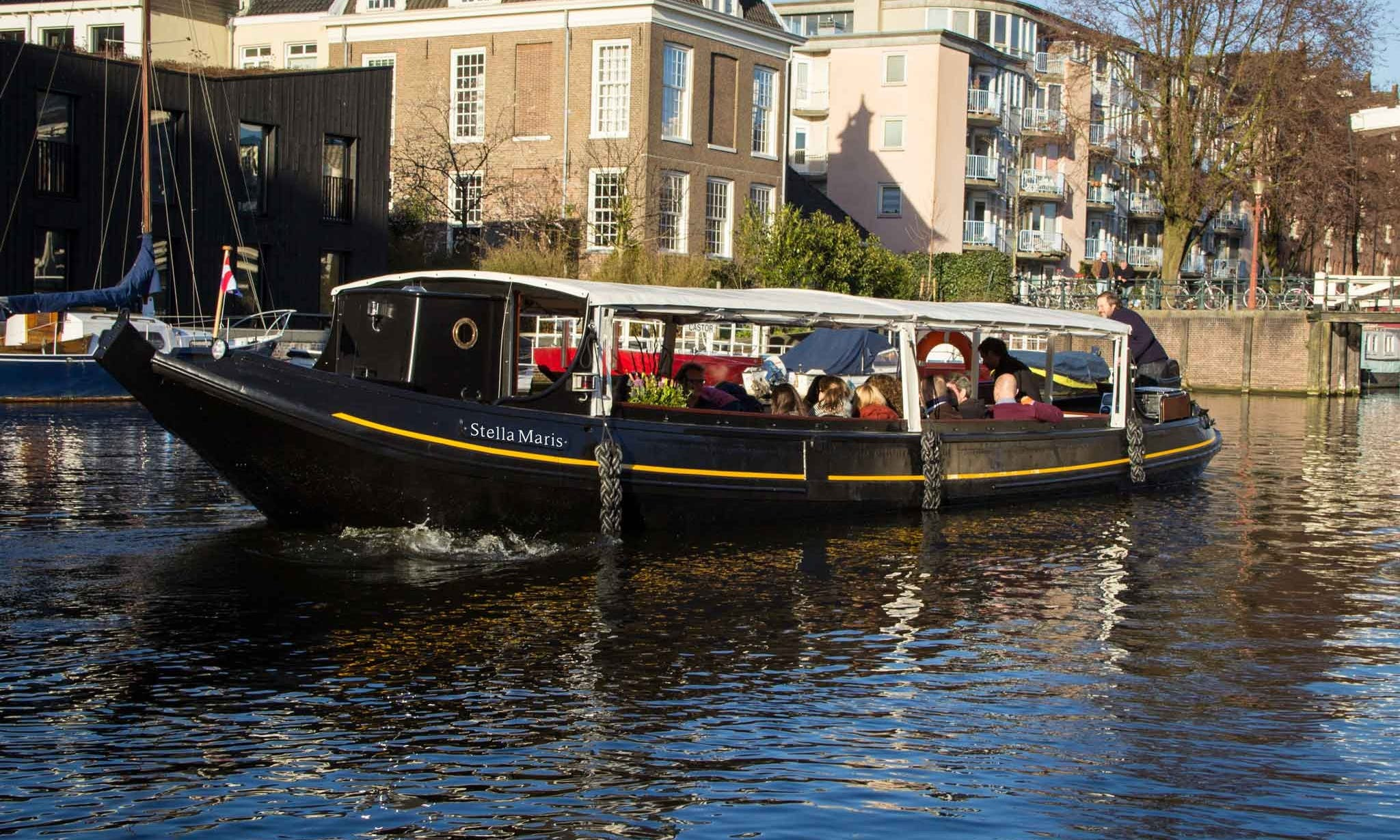 32-Person Classic Canal Boat Rental in Amsterdam