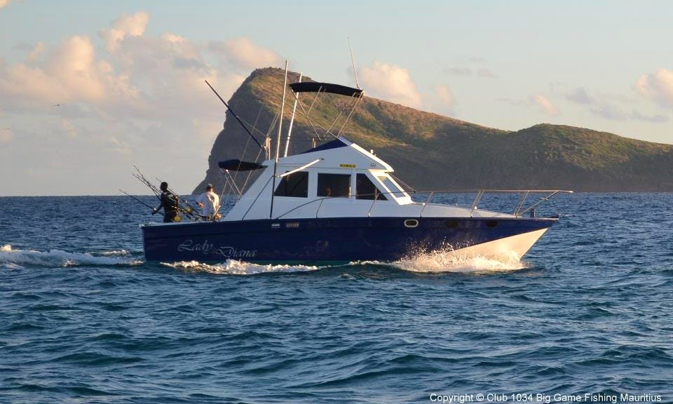 40ft Fisherman Charter for 6 Anglers in Cap Malheureux, Mauritius