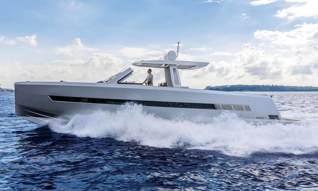 Most exclusive Power Boat rental in Mallorca FJORD 52 OPEN