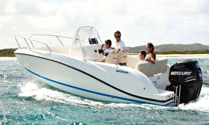 Quicksilver 605 Activ Open Deck Boat in Marina, Croatia