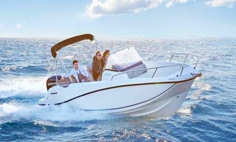 Rent a Quicksilver 675 Activ Open Boat with 150 Hp Outboard in Marina, Croatia