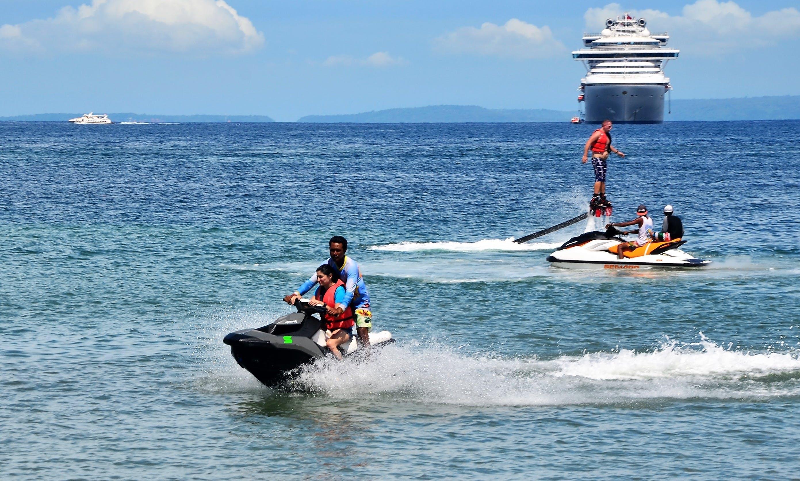Rent 2-Seater Yamaha Waverunner at Tanjung Benoa Beach, Indonesia