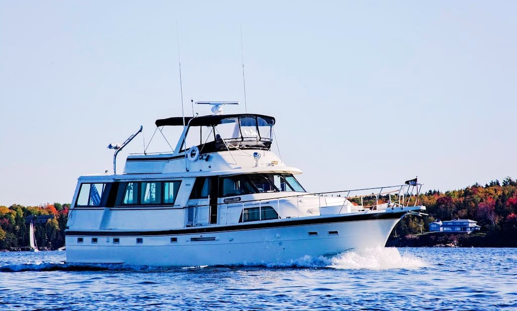 Classic Motor Yacht for Charter - Midcoast Maine
