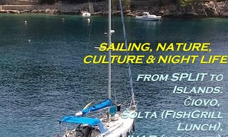Two days Trip w 42 foot Sailing Boat from Split