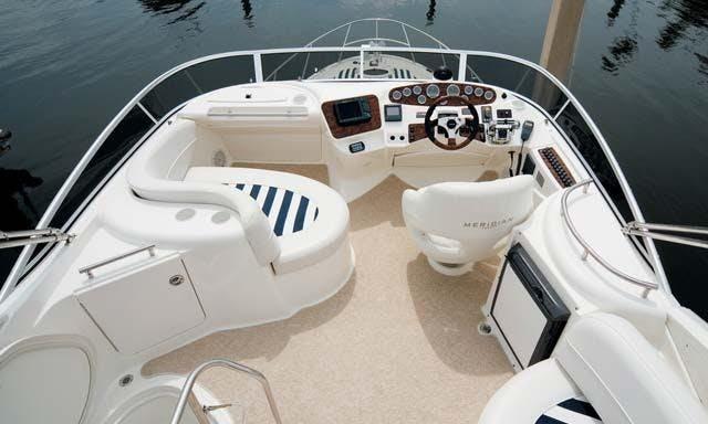 Luxury Captained Charter Meridian 341 Flybridge Motor Yach in Aventura, Florida