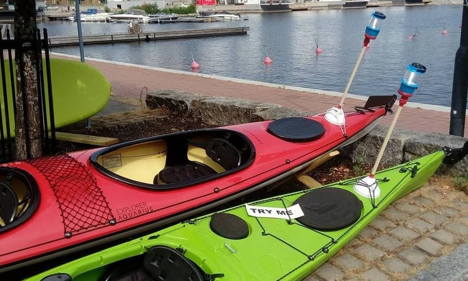 Single Fiberglass Kayak Rental in Kuopio, Finland