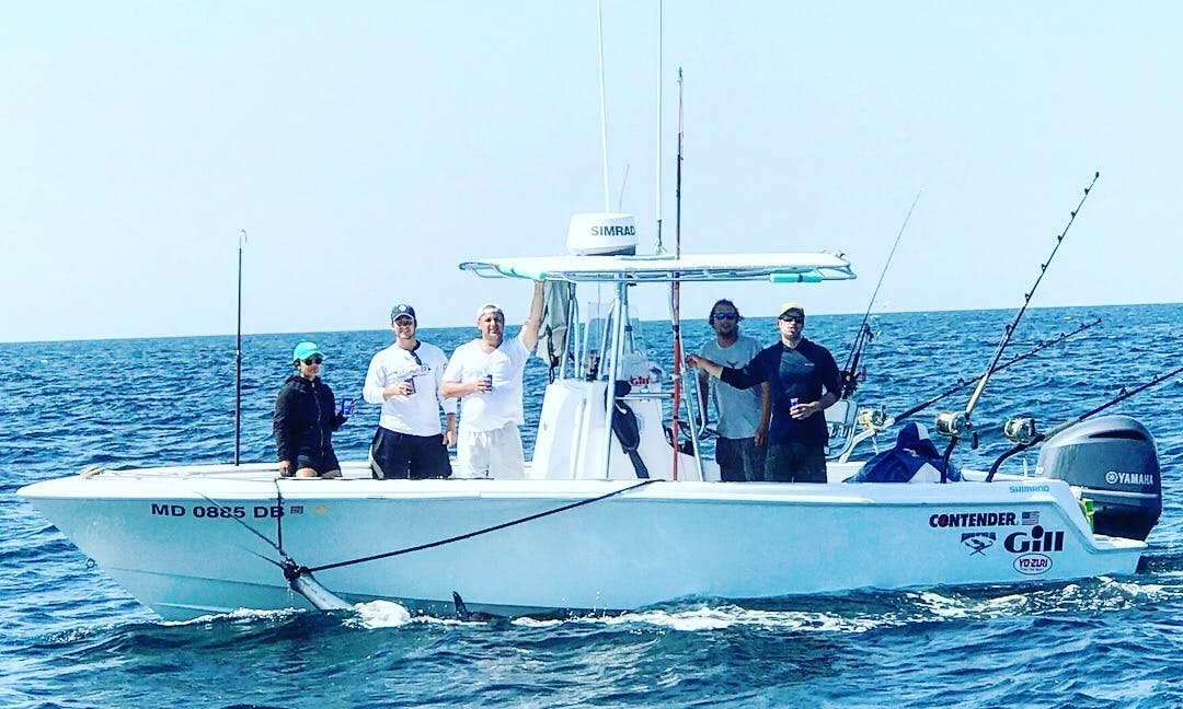 Fishing Charter on Contender 28 Tournament for up to 4 people in Quincy