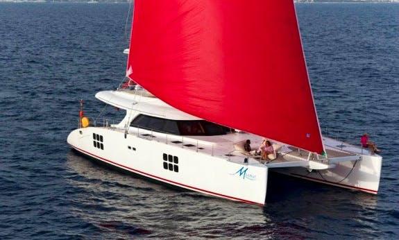 Beautiful 2011 Sunreef 70 Sailing Catamaran Rental In C'ote d'Azur, France