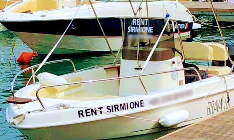 Rent a Brava 18 Center Console for 6 People in Sirmione, Italy