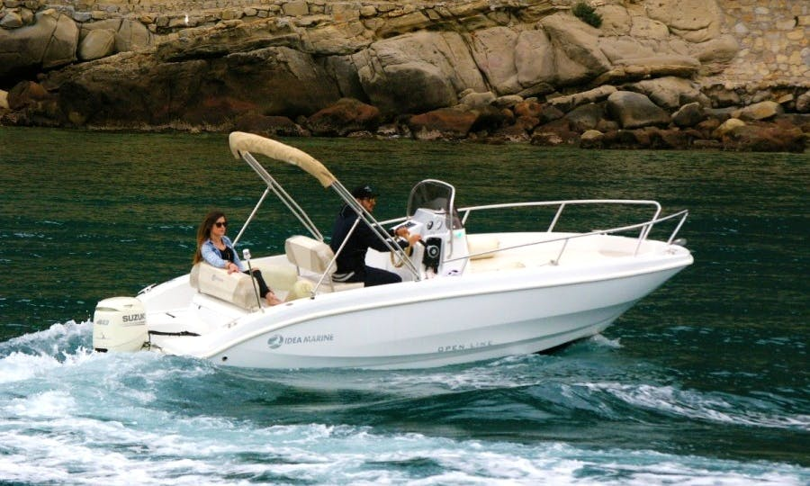 6-Person Idea Marine 5.8 Center Console for Rent in Bordighera, Italy