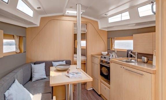 2019 Oceanis 38.1 Cruising Monohull Rental in Kos, Greece For 8 Person!