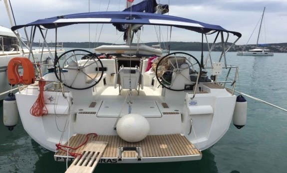 Explore Trogir, Croatia Aboard This Sun Odyssey 469 Cruising Monohull for 10 People