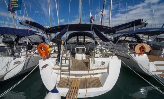 Sun Odyssey 45 Sailing Yacht Charter with Bow Thruster in Seget Donji