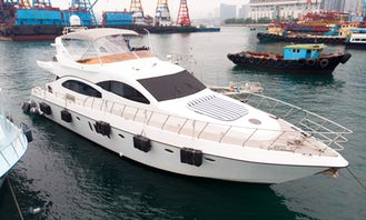 Azimut 78 Power Mega Yacht For 30 People in Hong Kong Island