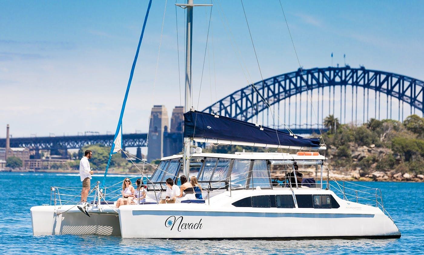 """Skippered Charter on 33ft """"Nevaeh"""" Catamaran in Sydney, Australia"""
