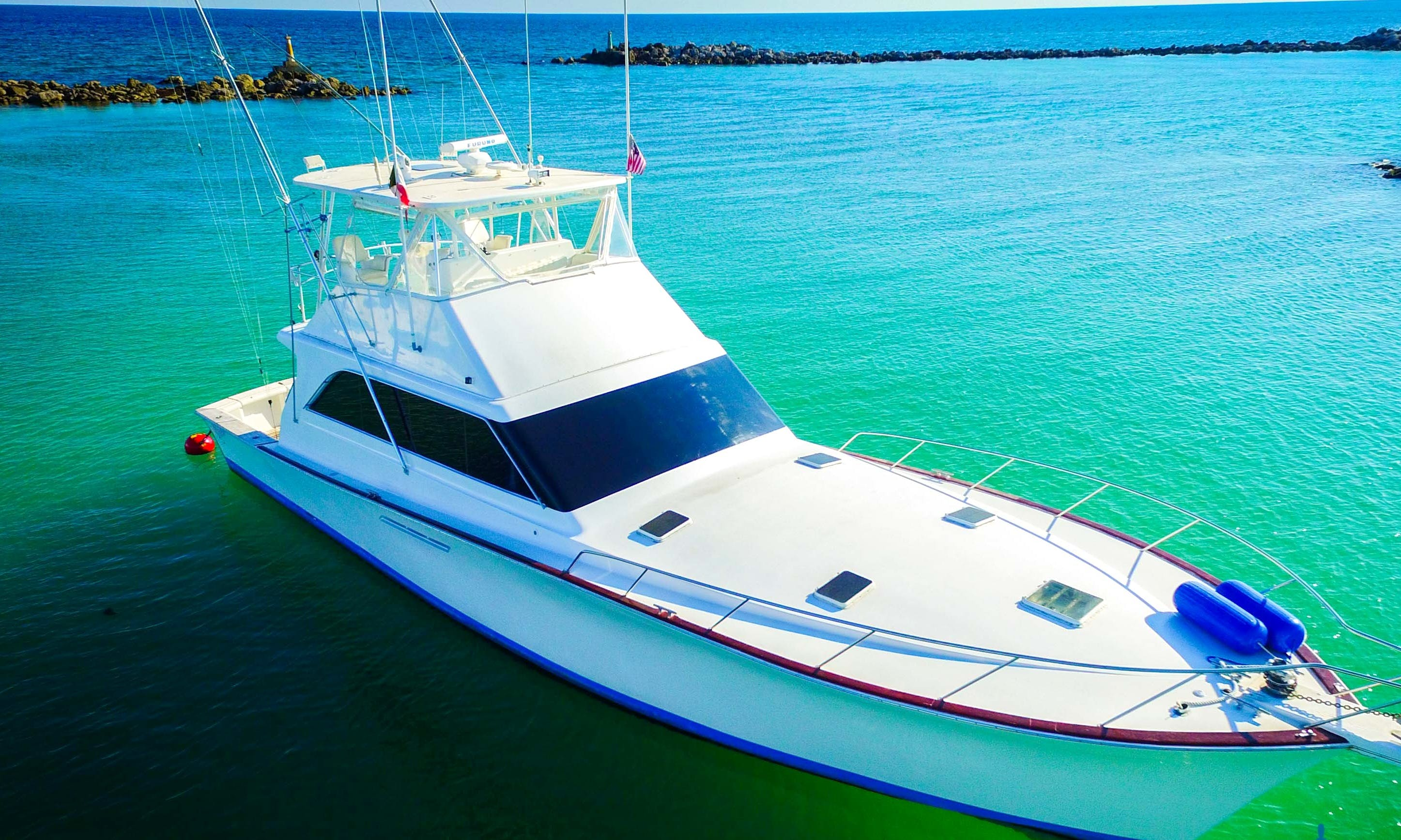 55' Sport Fisherman rental in Playa del Carmen