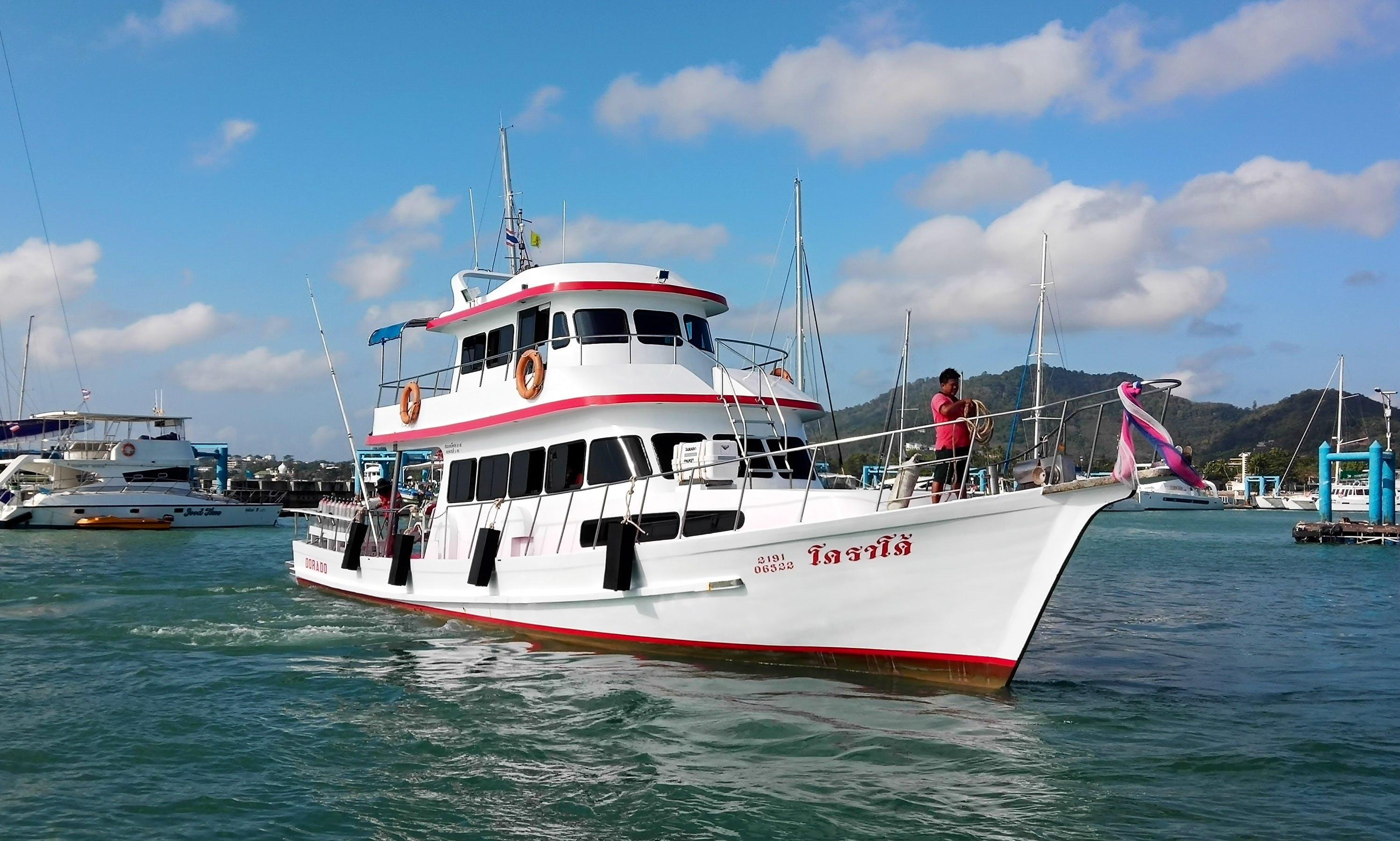Enjoy Fishing & Diving in Phuket, Thailand on 66' sport fisher