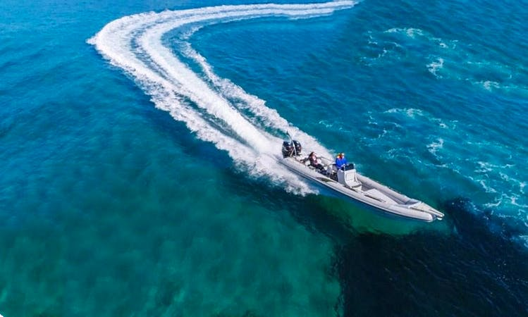 Rent a 32' Marvel RIB for 10 People in Pounta, Greece