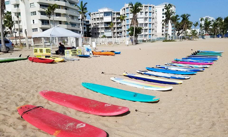 Rent a High Performance Surf Boards with Safety Leash in Carolina, Puerto Rico