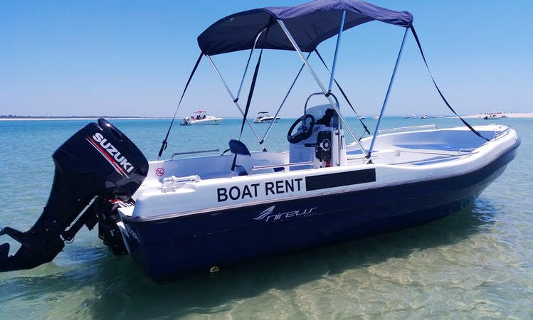 Rent 17' Nireus Open Center Console for 6 People in Setúbal