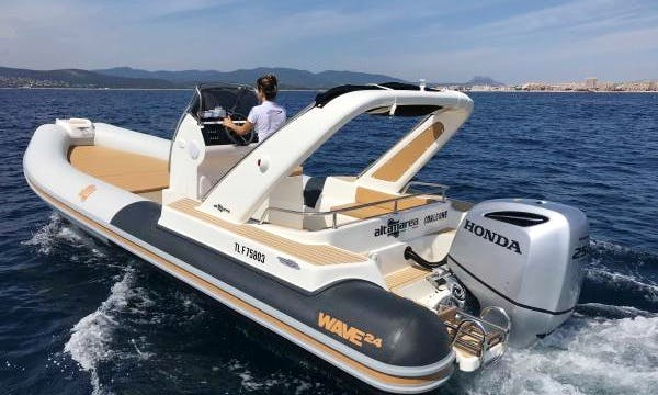 Altamarea Wave 24 RIB Rental In Vallauris, France