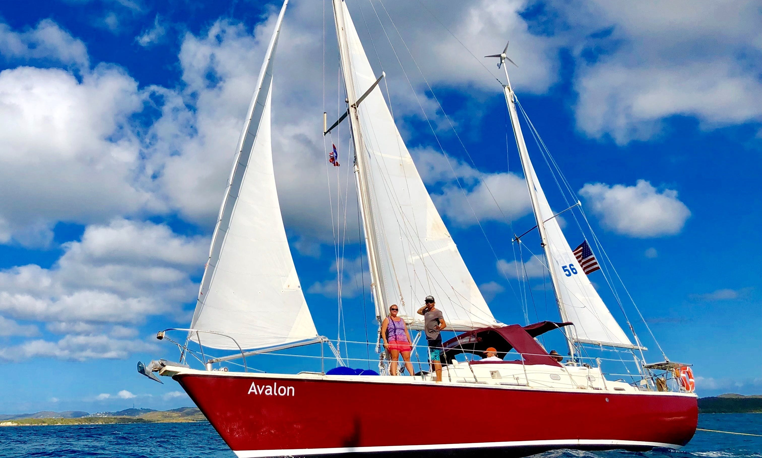 Sail, Snorkel, and Escape aboard SV Avalon with Vieques Sailing Charters!
