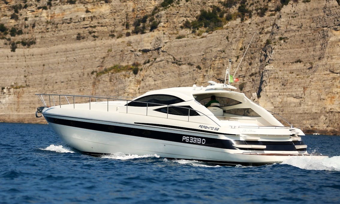 Pershing 52 HT Motor Yacht Captained Charter for 12 People in Capri, Italy