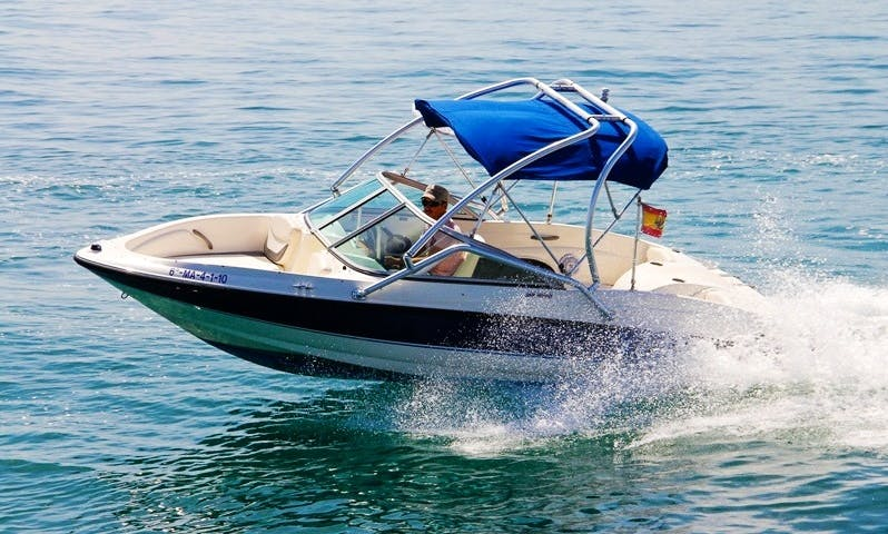 Rent this 20 ft Bayliner GT175 Bowrider for 5 People in Marbella, Spain