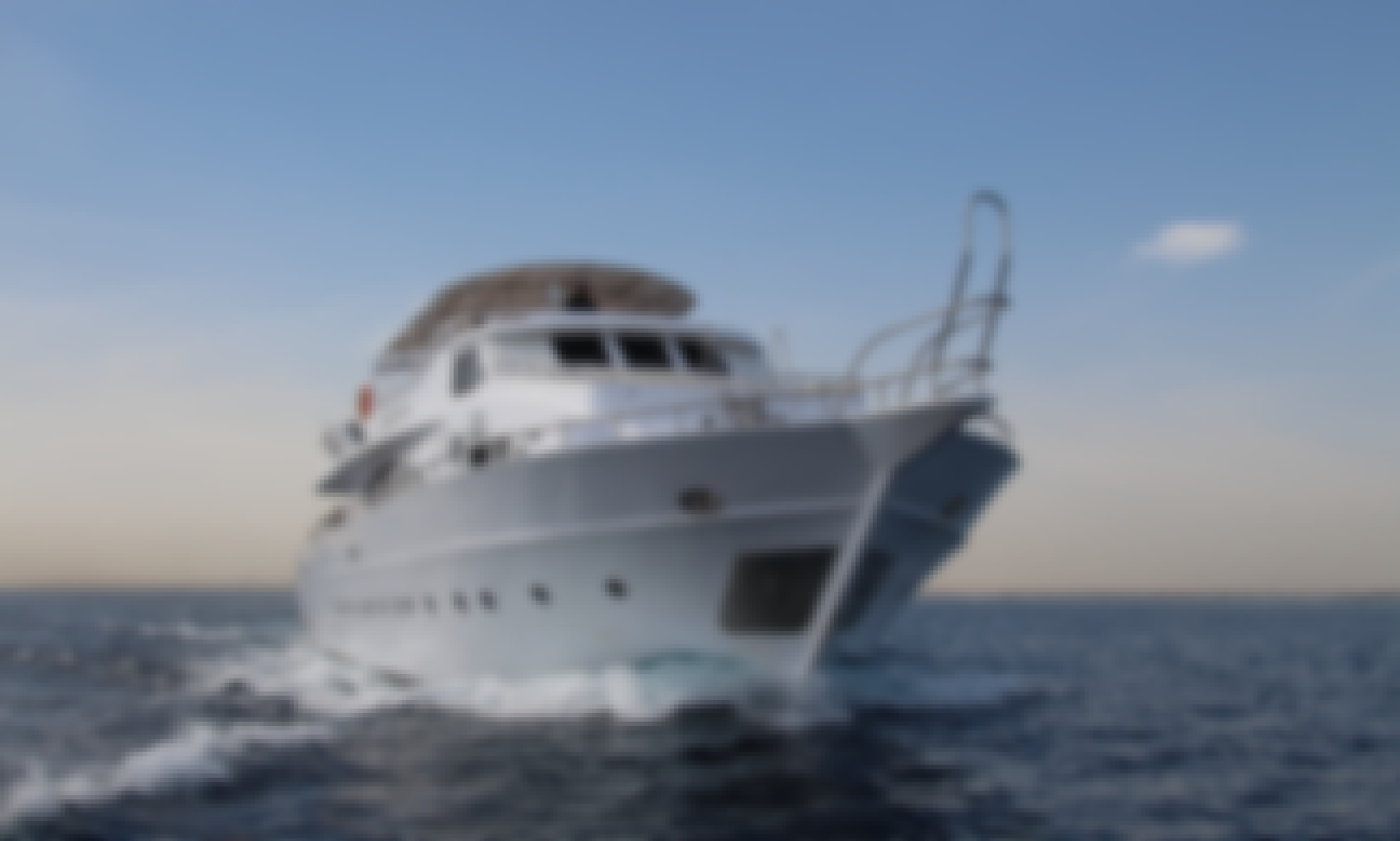 Luxury Motor Yacht In The Red Sea