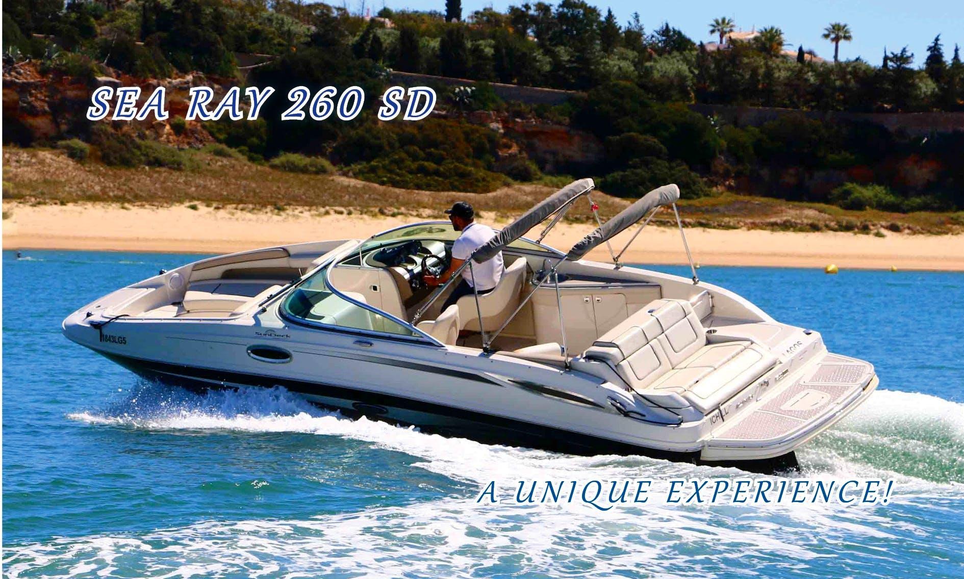 A unique experience! Sea Ray 260 SD rental in Portimão