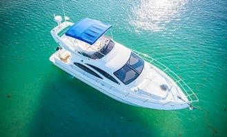 42' Azimut All-Inclusive Yacht Charter of Riviera Maya