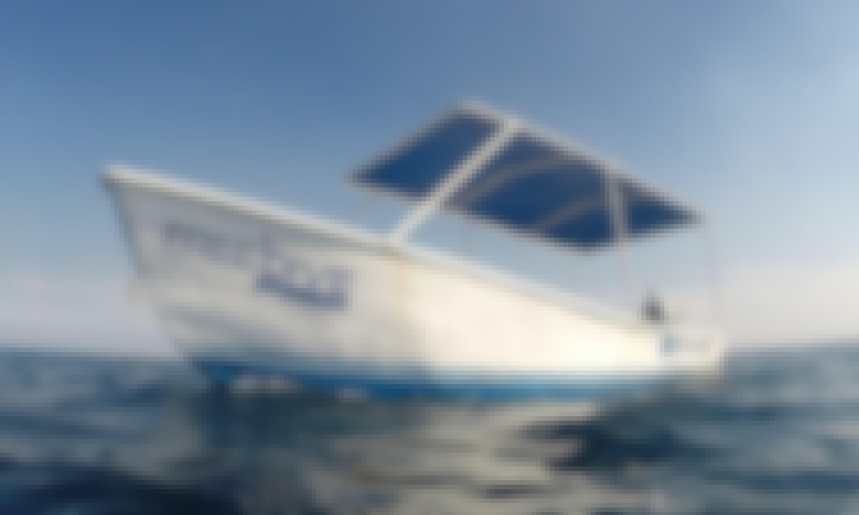 Panga boat for rent in Tamarindo