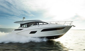 Charter this 32 ft Sundancer Motor Yacht with SeaBob for 12 People in Sag Harbor, New York