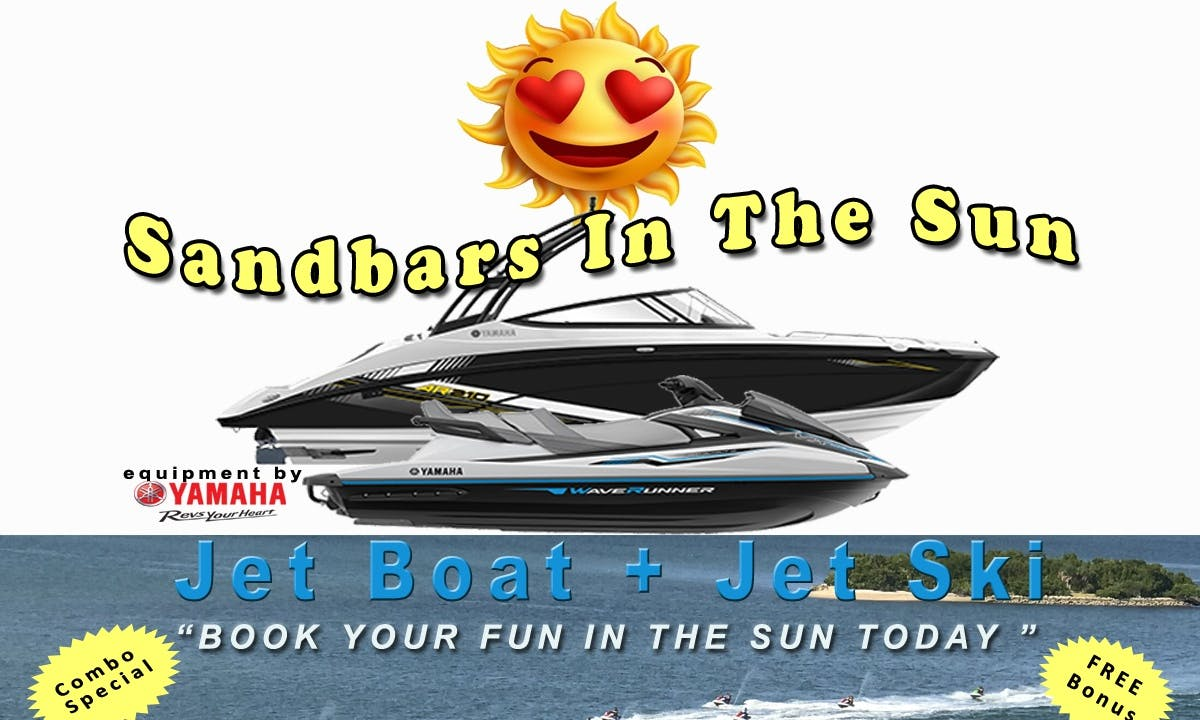 2019 Yamaha AR210 Jet Boat In Miami **ASK ABOUT OUR FREE OFFER** (Limited time only, conditions apply). / Jet Ski (shown in photos) is an à la carte add-on with additional charge.