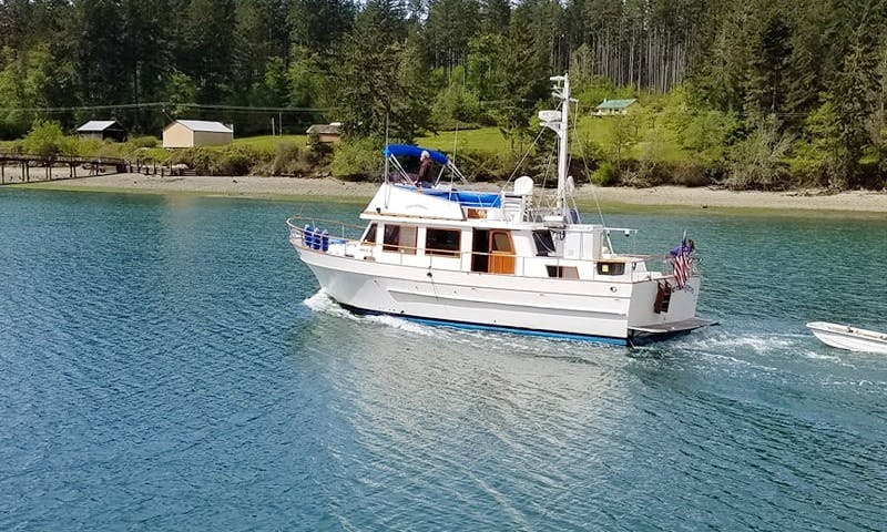 Charter this CHB 41' Aft Cabin Trawler for 6 People in Tacoma, Washington