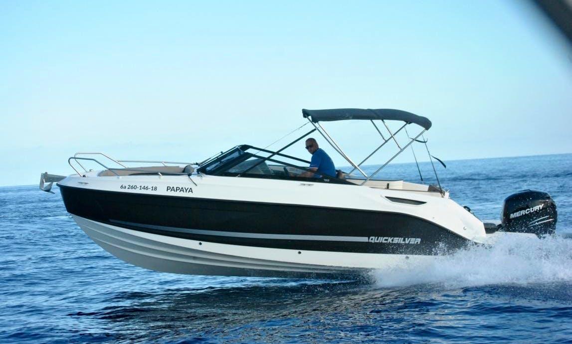 Amazing Quicksilver 755 Open Bowrider for Rent in Es Pelats, Spain
