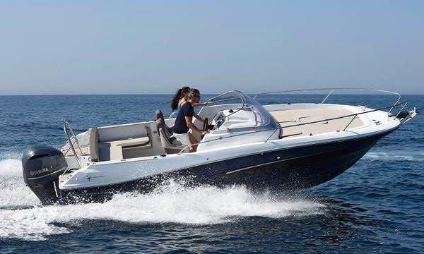 Rent this 150 hp Cap Camarat 650/2019 Cuddy Cabin in Es Pelats, Spain