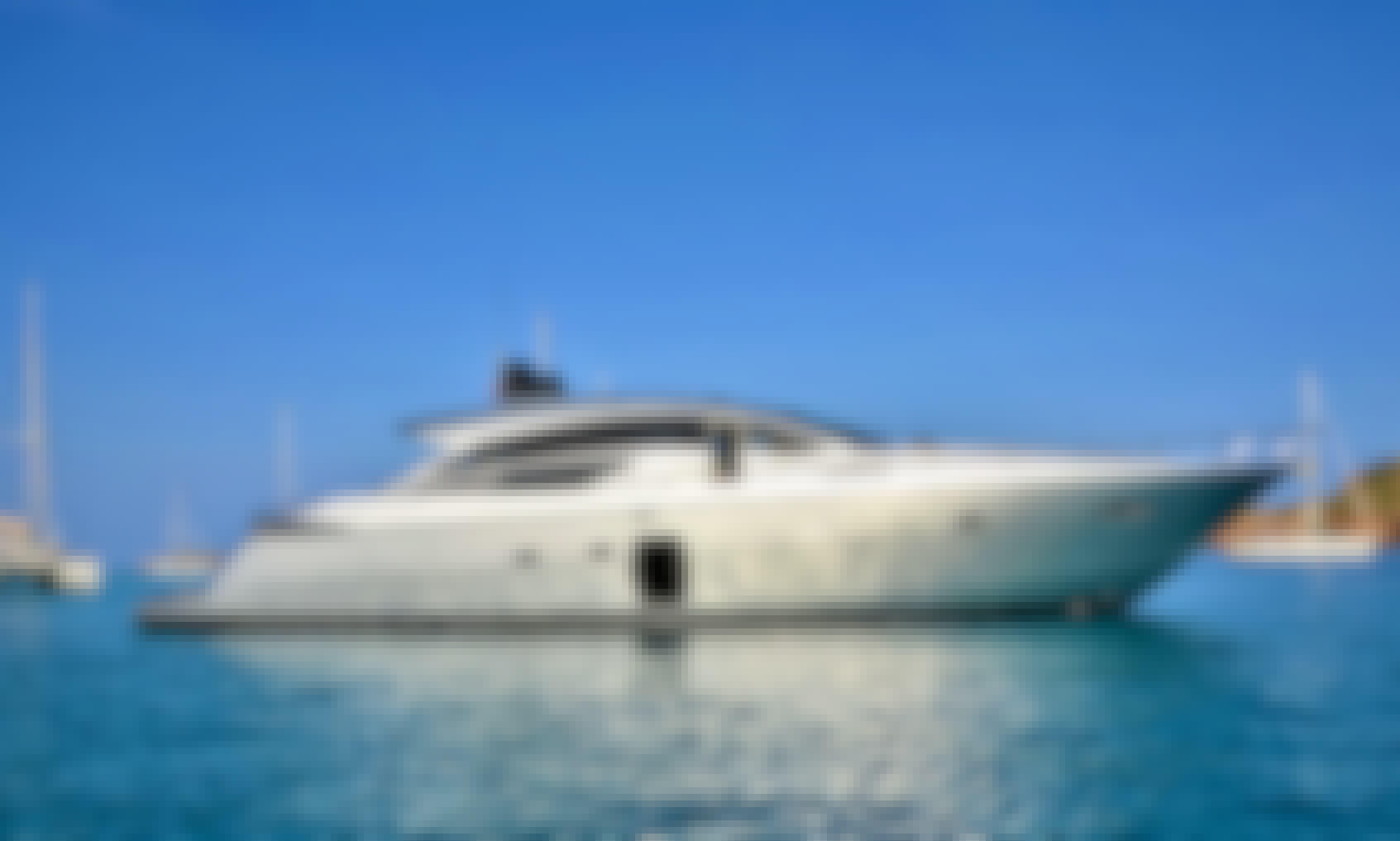 Elegant Pershing 72 Motor Yacht in Ibiza, Spain for 10 Guests