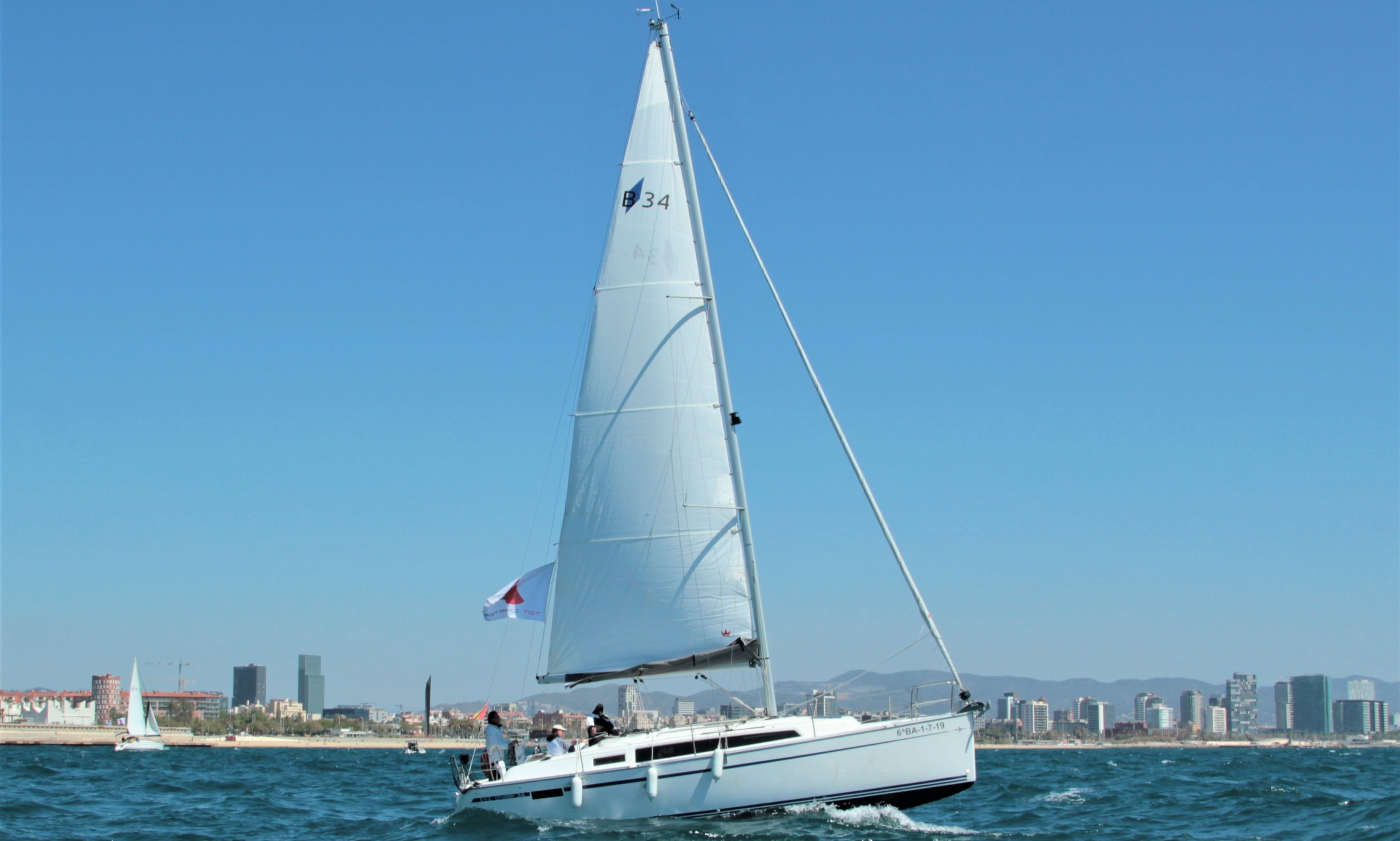 Charter this New 10-Person Bavaria 34 2019 in Barcelona!