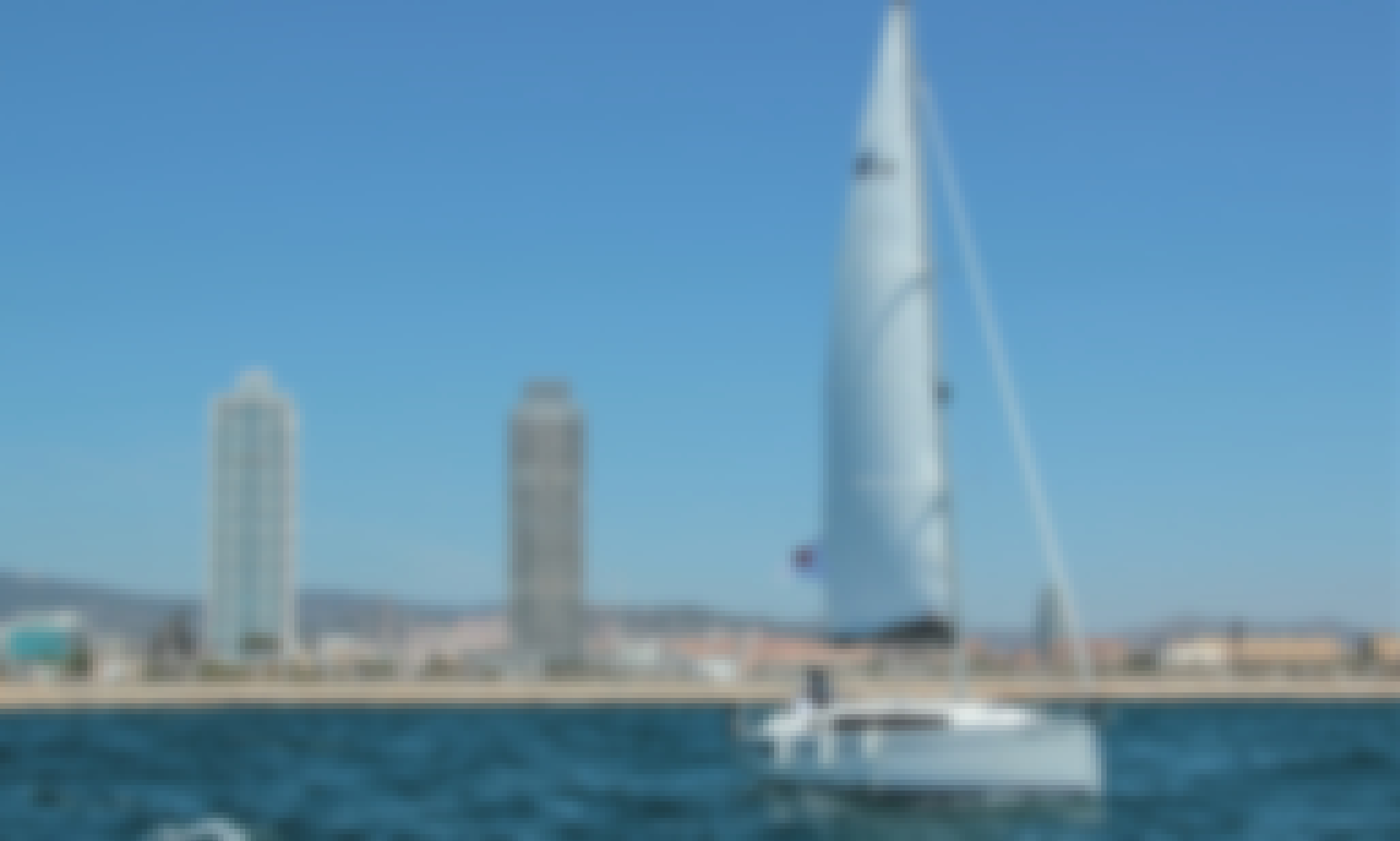 Charter this 10-Person Brand New Bavaria 34 Sailing Yacht in Barcelona!