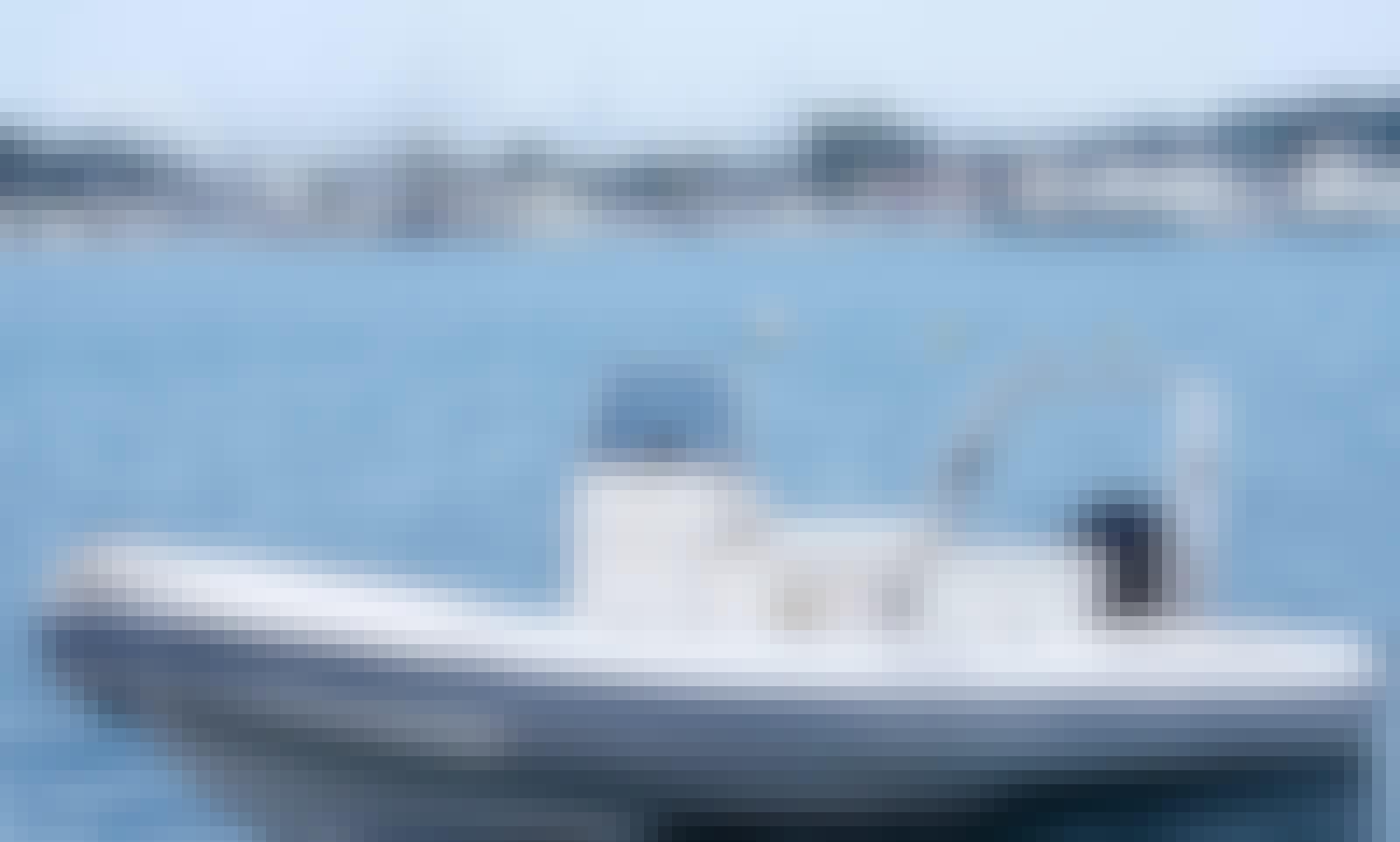 Explore Gouvia, Corfu on 2019 Oceanic Belluga RIB for 8 person!
