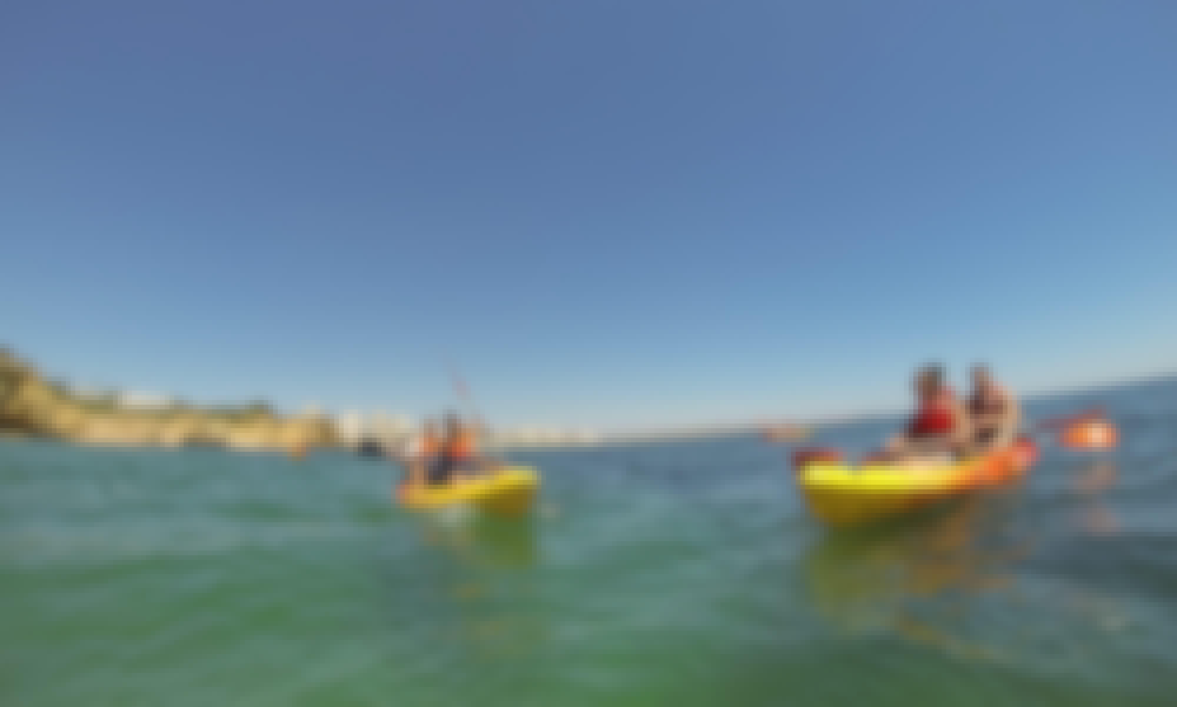 Kayak Rental in Armação de Pêra Beach, Algarve, Portugal
