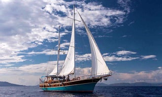 80 ft Gulet with Captain and Crew in Corfu, Greece