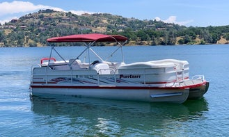 Party Barge Tritoon Powered by 150 Hp Engine with bimini top Lake Tahoe