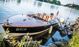 Classic Wooden Boat Rental in Prague, Czechia