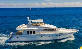 70ft Mega Yacht Princess Viking Rental in Cabo San Lucas, Mexico