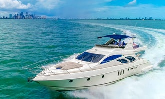 WE ARE OPEN IN MIAMI - Charter 62' Azimut Fly Bridge Luxury Yacht in Miami, Florida
